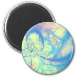 Blue Angel – Cosmic Azure & Lemon Fridge Magnets