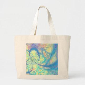 Blue Angel – Cosmic Azure & Lemon Jumbo Tote Bag