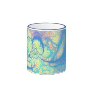 Blue Angel – Cosmic Azure & Lemon Ringer Mug