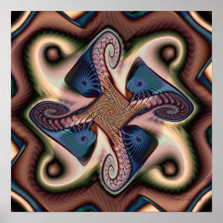 Blue Angel Fish Fractal Poster