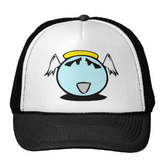 blue angel smiley with wings mesh hats