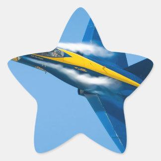 Blue Angel Star Sticker
