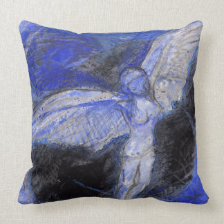 Blue Angel Throw Pillow 51 cm x 51 cm