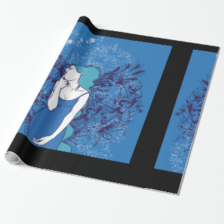Blue Angel Wrapping Paper