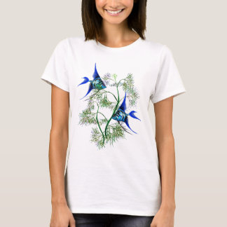 Blue Angelfish in Plants T-Shirt