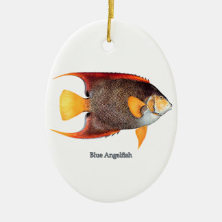 Blue Angelfish saltwater Ornaments