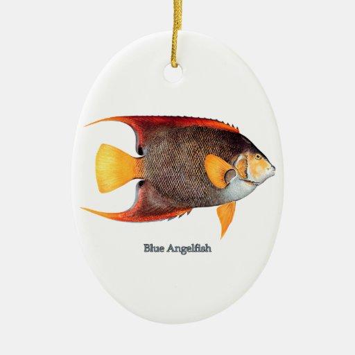 Blue Angelfish (saltwater) Ornaments
