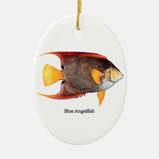 Blue Angelfish saltwater Ornaments