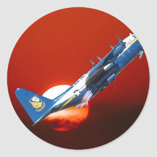 Blue Angels C-130 JATO take off Classic Round Sticker