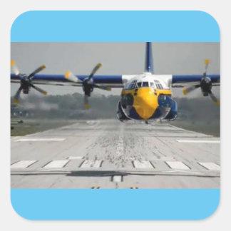 BLUE ANGELS C-130 SQUARE STICKER
