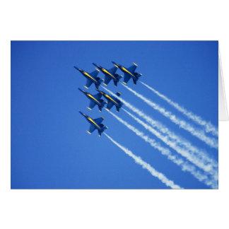 Blue Angels flyby during 2006 Fleet Week 2 Card