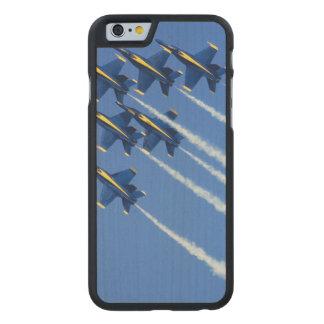 Blue Angels flyby during 2006 Fleet Week 2 Carved® Maple iPhone 6 Slim Case