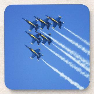 Blue Angels flyby during 2006 Fleet Week 2 Drink Coasters