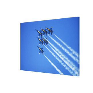 Blue Angels flyby during 2006 Fleet Week 2 Gallery Wrapped Canvas