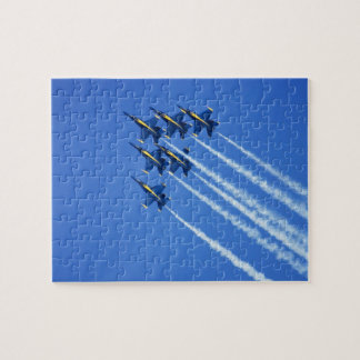 Blue Angels flyby during 2006 Fleet Week 2 Jigsaw Puzzles