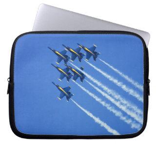 Blue Angels flyby during 2006 Fleet Week 2 Laptop Computer Sleeves