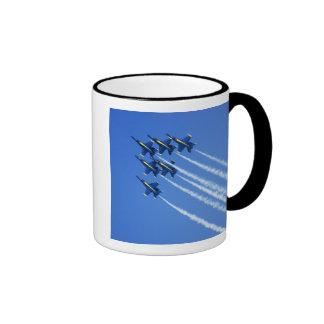 Blue Angels flyby during 2006 Fleet Week 2 Coffee Mugs