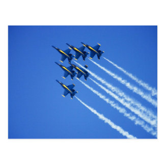 Blue Angels flyby during 2006 Fleet Week 2 Postcard