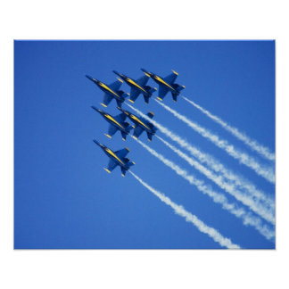 Blue Angels flyby during 2006 Fleet Week 2 Poster