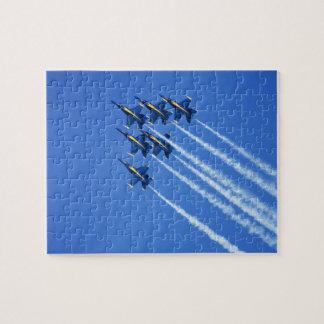 Blue Angels flyby during 2006 Fleet Week 2 Puzzle