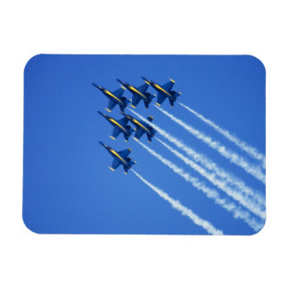 Blue Angels flyby during 2006 Fleet Week 2 Rectangular Photo Magnet