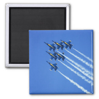 Blue Angels flyby during 2006 Fleet Week 2 Square Magnet
