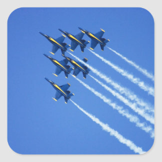 Blue Angels flyby during 2006 Fleet Week 2 Square Sticker