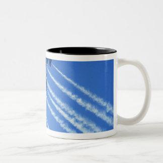 Blue Angels flyby during 2006 Fleet Week 2 Two-Tone Mug