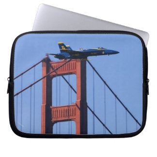 Blue Angels flyby during 2006 Fleet Week 3 Laptop Sleeve