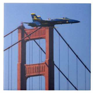 Blue Angels flyby during 2006 Fleet Week 3 Large Square Tile