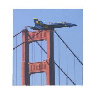 Blue Angels flyby during 2006 Fleet Week 3 Memo Note Pad