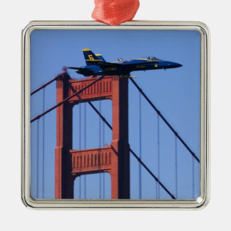 Blue Angels flyby during 2006 Fleet Week 3 Silver-Colored Square Decoration