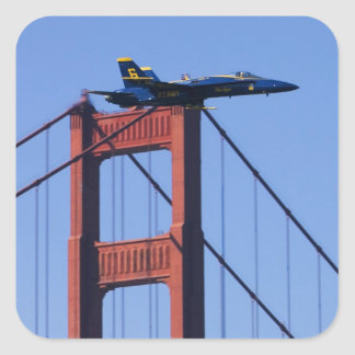 Blue Angels flyby during 2006 Fleet Week 3 Square Stickers