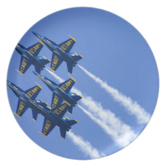 Blue Angels flyby during 2006 Fleet Week Dinner Plate