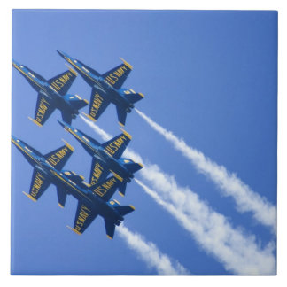 Blue Angels flyby during 2006 Fleet Week Large Square Tile