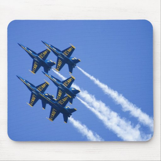 Blue Angels flyby during 2006 Fleet Week Mouse Pads