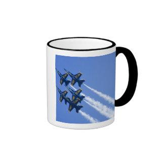 Blue Angels flyby during 2006 Fleet Week Coffee Mugs
