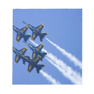 Blue Angels flyby during 2006 Fleet Week Memo Note Pad
