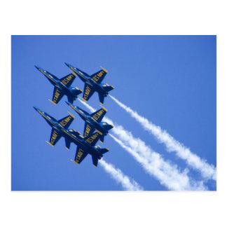 Blue Angels flyby during 2006 Fleet Week Post Card