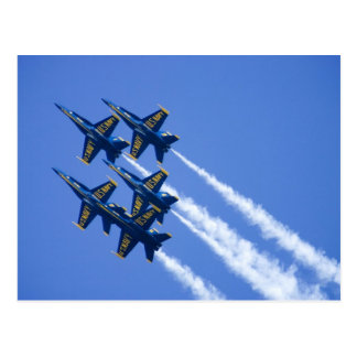 Blue Angels flyby during 2006 Fleet Week Postcard