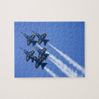 Blue Angels flyby during 2006 Fleet Week Puzzle