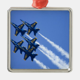 Blue Angels flyby during 2006 Fleet Week Silver-Colored Square Decoration