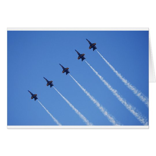 Blue Angels in Flight Card