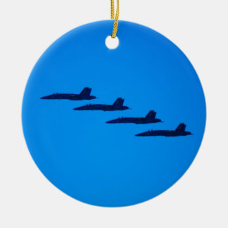 Blue Angels Jet Christmas Ornament