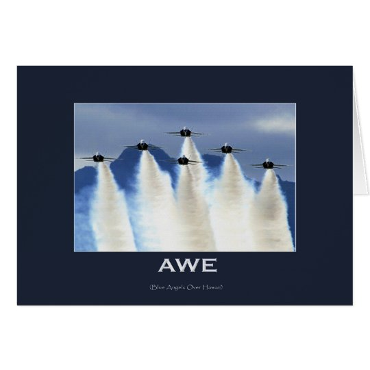 BLUE ANGELS Jet Fighters Greeting Card