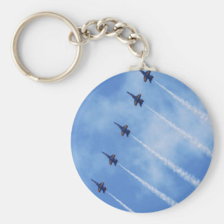 Blue Angels Basic Round Button Key Ring