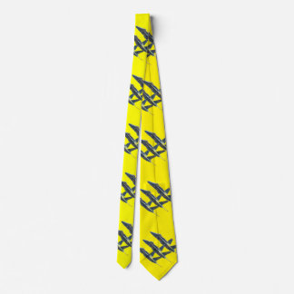 BLUE ANGELS ON YELLOW TIE