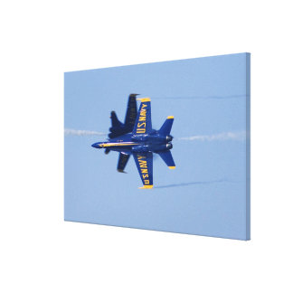 Blue Angels perform knife-edge pass during 2006 Canvas Print
