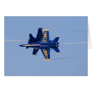 Blue Angels perform knife-edge pass during 2006 Greeting Card