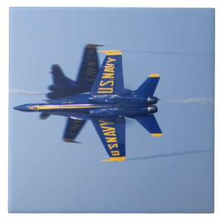 Blue Angels perform knife-edge pass during 2006 Large Square Tile